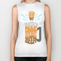 homer Biker Tanks featuring DoesBeerCountAsWhiskey?-Homer by PositiveFuture