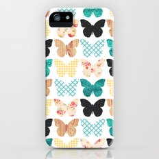 Butterfly Patchwork Slim Case iPhone (5, 5s)