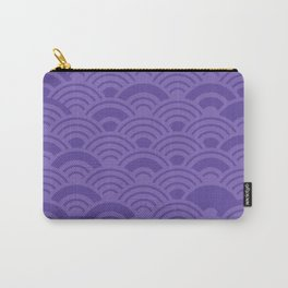 Ultra Violet Color of the Year 2018 Seigaiha seigainami wave of the sea abstract scales Carry-All Pouch