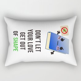 No Love Triangles Allowed Rectangular Pillow