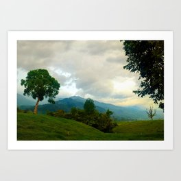 Colombian Countryside Art Print