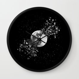 Moon explosion Wall Clock