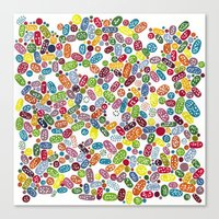 pills Canvas Prints featuring Pills by Eleacuareling