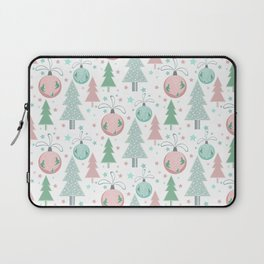 Christmas white pattern Laptop Sleeve