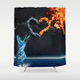 Sun Dude & Water Chick Shower Curtain