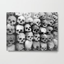 UNNESSASARY SACRIFICES // Skulls of Cambodia Killing Fields Metal Print