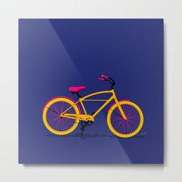 Happy Bike Metal Print