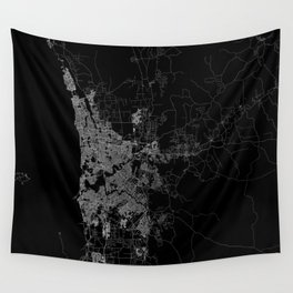 Perth map Australia Wall Tapestry