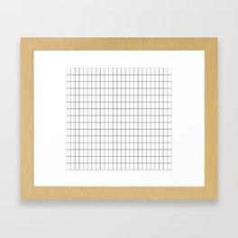 City Grid Framed Art Print