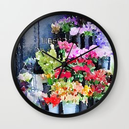 Mallory's Parisian Florals Wall Clock