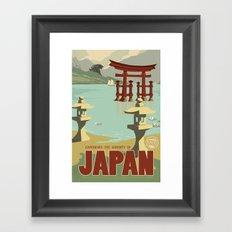 Kaiju Travel Poster Framed Art Print