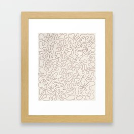 Puzzle Drawing #3 Chocolate Framed Art Print
