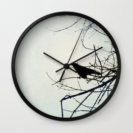 Raven Art - You are the Mystery that Cries Wall Clock
