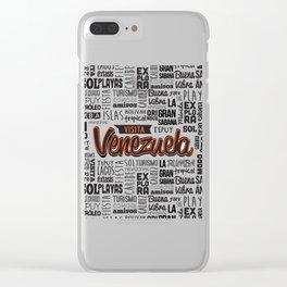 Venezuela Lettering Design Clear iPhone Case