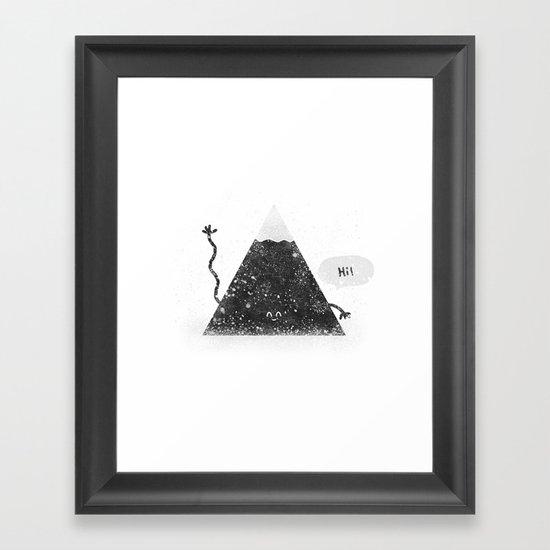 Happy Mountain Framed Art Print