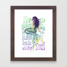 Mermaid : Profound Depths Framed Art Print