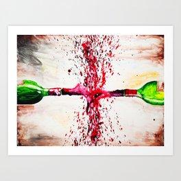 Wine Splash Art Print