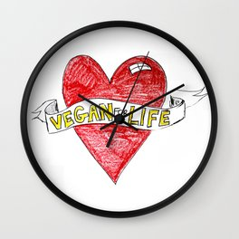 Vegan For Life Wall Clock