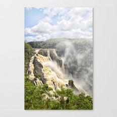 Barron Falls under a summer sky Canvas Print