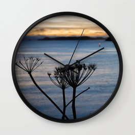 Pushki Silhouette Photography Print Wall Clock