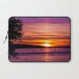 Sunset Over the Beach  Laptop Sleeve