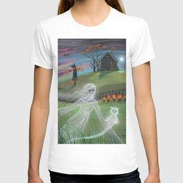 Ghost Friends Halloween Fantasy Art by Molly Harrison T-shirt
