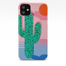 No Foolin - retro throwback neon art design minimal abstract cactus desert palm springs southwest  iPhone Case