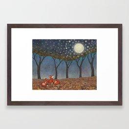 sleepy foxes Framed Art Print