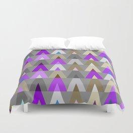 Geometric Triangles | purple grey Duvet Cover