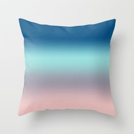 Rose Quartz Lilac Gray Limpet Shell Snorkel Blue Ombre Throw Pillow