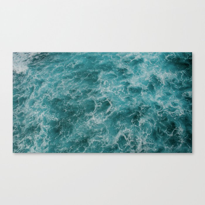 faded waves Canvas Print