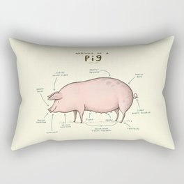 Anatomy of a Pig Rectangular Pillow