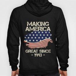 Making America Great Since 1993 American Flag Birthday Gift Hoody