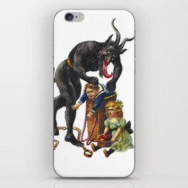 Krampus Believer Gruss Vom Merry Christmas Demon iPhone Skin