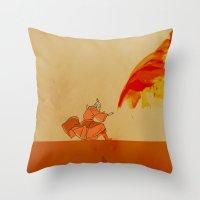 airbender Throw Pillows featuring Avatar Roku by daniel