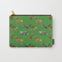 Backyard Critters in Green Carry-All Pouch