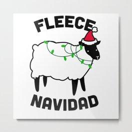Fleece Navidad Metal Print