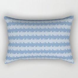 Bondi Beach Blue Grey Shark Attack Beach Stripe Rectangular Pillow