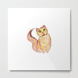 Red Persian Cat Metal Print