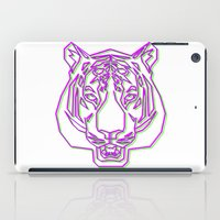 rave iPad Cases featuring Tiger Rave by James Thornton