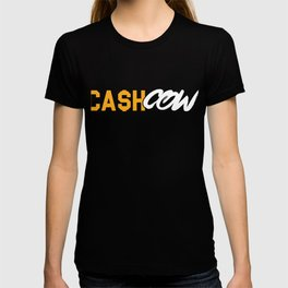 Cash Cow Investor Cryptocurrency Cryptocoin Bitcoin Trader T-shirt