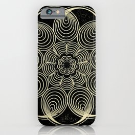Antique Spiral Geometry iPhone Case