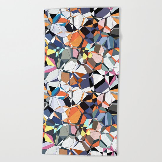Abstract Geometric Chaos Beach Towel