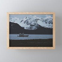 Ocean and Snow Framed Mini Art Print