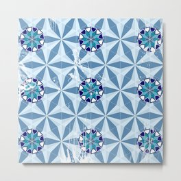 Old Persian Tile 01 Metal Print