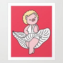 Marilyn piggy Art Print