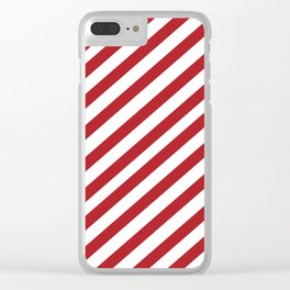 Candy Cane - Christmas Illustration Clear iPhone Case