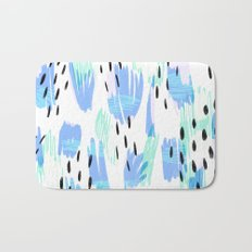 Addie - bold abstract - bright blue Bath Mat