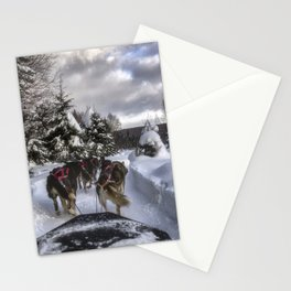 Running With the Dogs Stationery Cards
