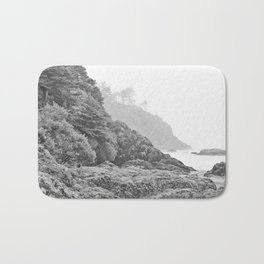 Washington Coast Mist Fog Shoreline Beach Pacific Ocean Long Beach Beards Hollow Forest Northwest Bath Mat